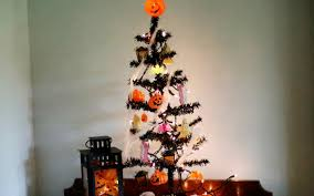 Sterling 2 Pre Lit Led Black Wire Halloween Tree Orange Flower Lights Source Mini