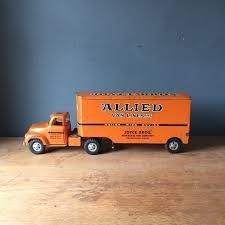 100 Toy Moving Truck 1950s TONKA Orange Metal MCM Apartment Therapys