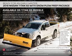 100 Truck With Snow Plow Nissan Titan XD Package Is Ready For A White Christmas