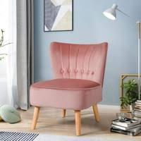 costway polsterstuhl esszimmerstuhl gepolstert wohnzimmerstuhl kuechenstuhl designerstuhl akzentstuhl schminksessel rosa