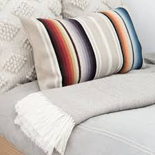 Small Decorative Lumbar Pillows by Decorative Lumbar Pillow Ombre Striped Design U2013 The Citizenry