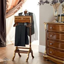 Mens Dresser Top Valet by Clothes Rack Luxury Valet Stand With Two Drawers Bella Vita