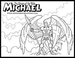 The Heroes Of Bible Coloring Pages Michael Daniel 10 12