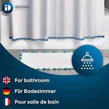سجادة حمام قطنية مخططة ذات شراشيب من interdesign مصنوعة من