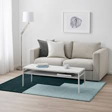 kongstrup teppich langflor hellblau grün 133x195 cm