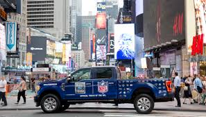 Ford F-Series Now Official Truck Of The NFL; Celebrating Toughest ... Diadon Enterprises Photos The Baddest Ford Fseries Trucks Of Official Truck The Nfl Youtube File2015 F150 Pickup Truckjpg Wikimedia Commons Now Celebrating Toughest Wrecking F Series Tractor Parts Americas Best Selling For 40 Years Built 52018 Borderline Center Racing Stripe W Outline Ftrucks Launches 2015 Superduty Range A Brief History Autonxt Trucks 2007 150 Harley Davidson Front 2010 Super Duty Nceptcarzcom Monaco Is A Glastonbury Dealer And New Car Used