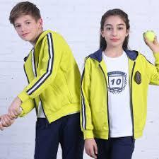 Unisex Junior Sports Wear Student Jacket Wholesale School Sportswear Women
