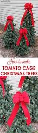 Silver Tip Christmas Tree Artificial by Tiered Tomato Cage Christmas Trees