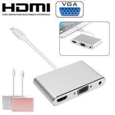 Lightning to HDMI VGA Digital AV Adapter Cable For Apple iPhone X