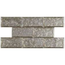 12x12 Mirror Tiles Beveled by 3x6 Glass Tile Tile The Home Depot