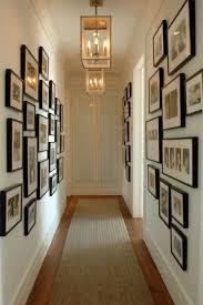 hallway gallery wall using simple black frames office