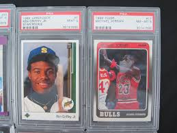 1990 Upper Deck Ken Griffey Jr by Lot Detail Collection Of 8 Graded Cards W Griffey Jr Michael