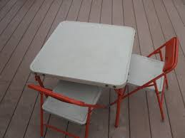 Samsonite Childs Table And Chairs- Folding Chairs- All Metal ... Thbsafc001 Samsonite Folding Chairs And Card Tables Usa Steel Folding Chair Padded Metal Amazoncom Fniture 2900 Series Fabric Fanback Case4 Gray Seat Polypropylene Black Back Frame Fourlegged Base 2200 Injection Mold Powder Coated Fourleg Event Rentals In Atlanta Kid White Miami Brown Chairs 497521050 2800 40 Burgundy