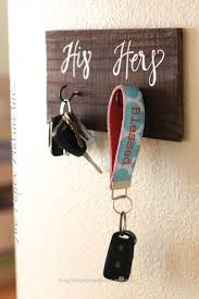 Beautiful His And Hers Key Holder Sign Rustic Home Decor By ThePaperWalrus The Post
