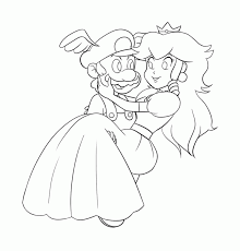 Mario Princess Peach Coloring