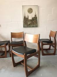 4 X Mid Century Portwood Teak Dining Chairs 1960s (Danish Style ... Danish Midcentury Modern Rosewood And Leather Ding Chairs Set Of Scdinavian Ding Chairs Made Wood Rope 1960s 65856 Mid Century Teak Seagrass Style Layer Design Aptdeco 6 X Style Room Chair 98610 Living Room Fniture Replica Wooden And Rattan 2 68007 Pad Lifestyle Herringbone Sven Ding Chair Sophisticated Eight Brge Mogsen In Vintage Market Weber Chair Weberfniturecomau Vintage Danish Modern