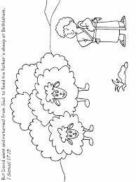 David5 Bible Coloring Pages