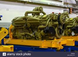 100 Turbine Truck Engines Large Diesel Engine With A Huge Turbine In The Warehouse Of Finished