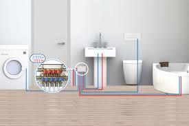 wie eine elektrische anlage in einem badezimmer oder in