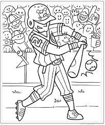 Coloring For Kids Free Baseball Pages At Set Animal