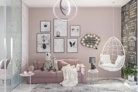 ein modernes wohnzimmer rosa mischen kleine schwarz weiße