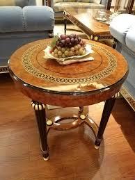 edler designer klassischer couchtisch beistelltisch sofa wohnzimmer tisch rund