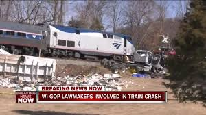 Wisconsin Congressional Delegation Okay After Train Hits Truck In ... Amtrak Train Hits Dump Truck In Edgebrook Abc7chicagocom Train Carrying Us Republican Lawmakers One Death Reported Two Dead 18 Hurt After Stuck On Tracks Italy Stolen Unoccupied Pickup Northeast Bellevue No White House 1 Hit By Congress Members Stow Fox8com Carrying Gop Lawmakers Hits Truck One Dead Ho Stop Motion Film Youtube Stalled Semi Sebree As Csx Works At Multiple Crossings Republicans To Retreat In West Virginia Garbage New Jersey Transit Little Of