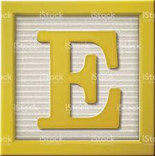 3d Yellow Letter Block E Stock Vector Art & More of 2015