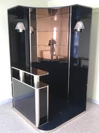 bureau d angle noir laqué recyclage objet récupe objet donne meuble bar laqué noir à