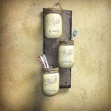 Mason Jar Decor Pallet Wood Rustic Cottage Storage Three Wall Sconce