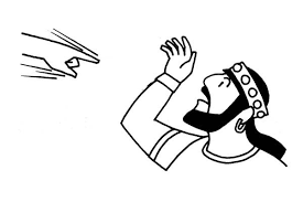 King Nebuchadnezzar Writing On The Wall Colouring Page