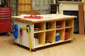 Workshop Organization Ideas Sawdust Girl With Regard To New Residence Work Bench Storage Remodel