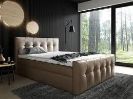 boxspringbett schlafzimmerbett owen 160x200cm kunstleder