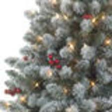 Real Christmas Trees Kmart by Amazon Com Jaclyn Smith 4 5 U0027 Pre Lit Redwood Pine Flocked Spruce