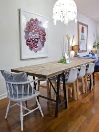 Awesome Dining Area With Rustic Style Wood Table And Modern Chairs