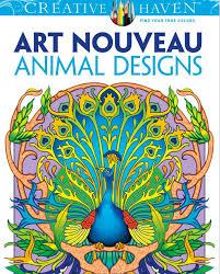 Art Nouveau Animal Designs Adult Coloring Book