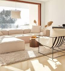 modulares ecksofa lennon aus textil in beige westwingnow
