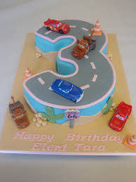 Number 3 Cars Racetrack Celebration Cakes Cakeology