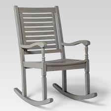 Acacia Wood Patio Rocking Chair Gray Wash Saracina Home