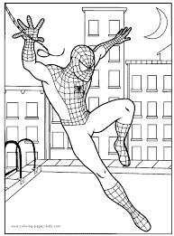 Spider Man Color Page