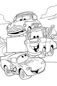 Lightning Mcqueen And Mater Coloring Pages Fitfru Style Page In Cars From The 2 Disney