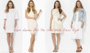Short White Ralph Lauren Dress For Wedding