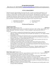 Resume Sample Retail Resumes Store Manager Objective Clothing Assistant