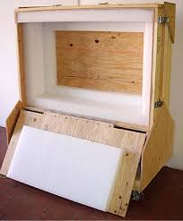 LCD TV Crate Open With No Television