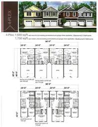 Photos And Inspiration Multi Unit Home Plans by Three Unit Triplex Plan 41141 Total Living Area 4935 Sq Ft