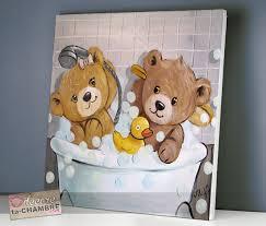 tableau ourson chambre bébé tableau ourson salle de bain 53 vente tableau ourson pour enfants