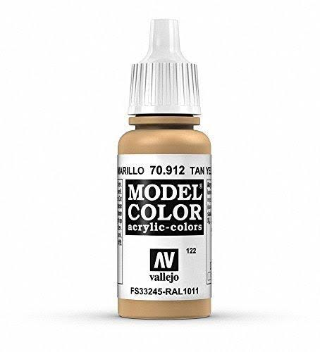 Vallejo Model Color Acrylic Paint - 17ml, Tan Yellow