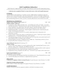 Objective Medical Assistant Resume Examples Samples Med Sample Urban