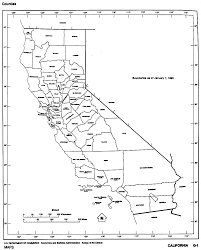 California Map Of Springs Black And White