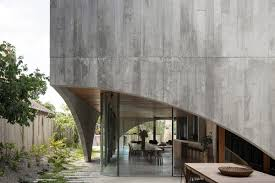 100 Concret Walls Arched Concrete Walls Wrap A Pair Of Houses As A Secondary